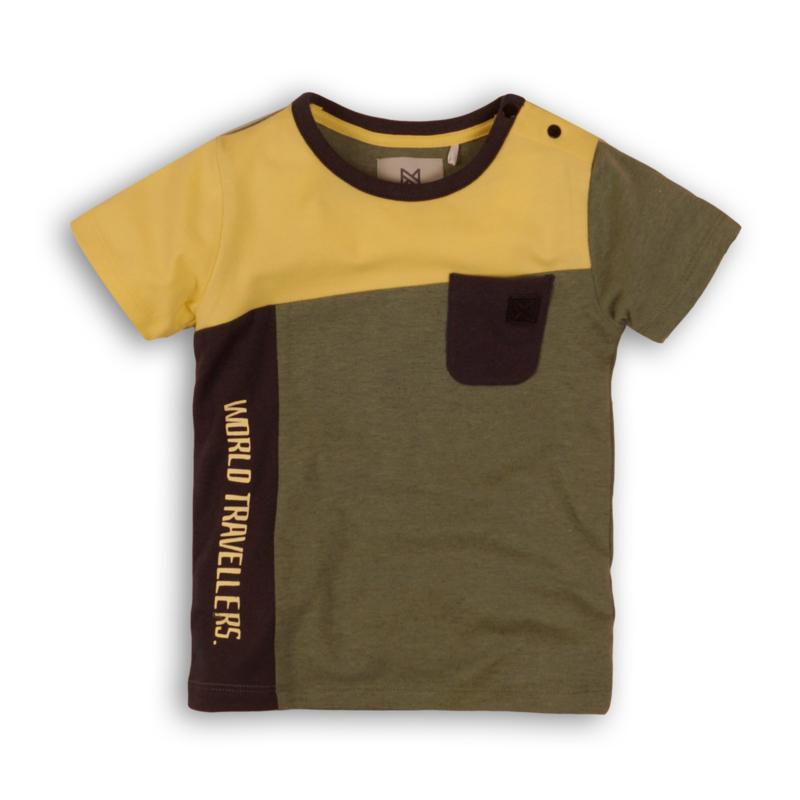 Koko Noko t-shirt bruin geel