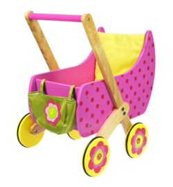 Dushi houten poppenwagen