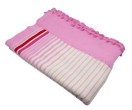 Dushi gebreide deken gestreept
