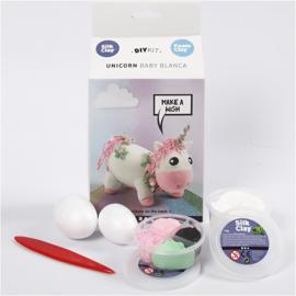 Foam en Silk Clay Unicorn baby Blanca