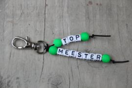 sleutelhanger top-meester groen