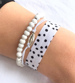 ibizastyle armbandensetje wit
