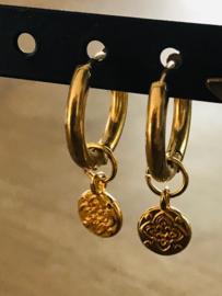 Oorbellen muntje goud