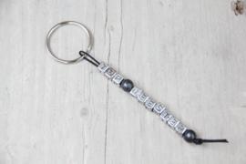 Sleutelhanger *top-meester* antraciet/zilver
