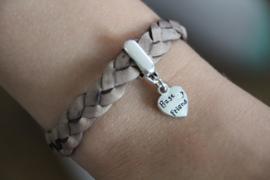 Vriendschaps armbandenset taupe (2 stuks)