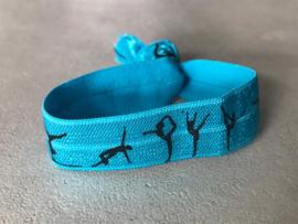 elastisch armbandje turnen blauw