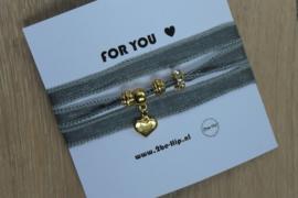 C.U.S. armband shimmery grey goud