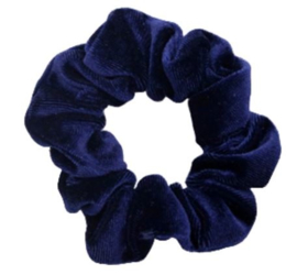 Scrunchie fluweel blauw