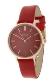 Ernest horloge rood/rose