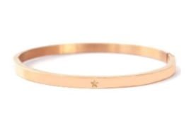 RVS armband rose goud *ster*