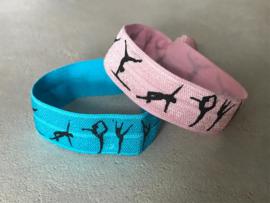 Elastisch Armbandje  turnen licht roze