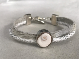 Shiva armband wit/zilver
