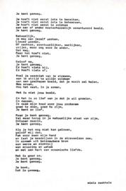 Uitgetypt gedicht 'Jij bent genoeg'