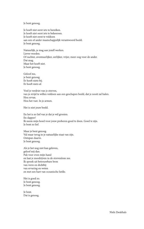 Poster met gedicht 'Jij bent genoeg' (A3-formaat)