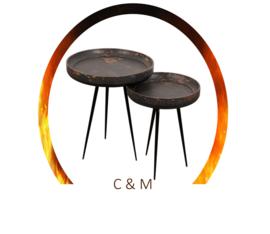 Retro burned table set