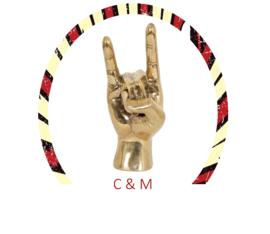 Rock on Hand Goud