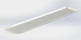 Blanc plateau 10 x 50 cm