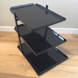 Étagère noir 3 tablettes (plateaus non inclus! )