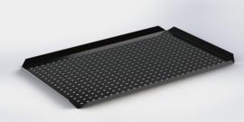 Noir plateau bords hauts 40 cm x 60 cm x 2 cm  PERFORÉ
