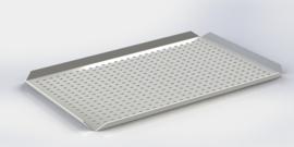 Blanc plateau bords hauts 40 cm x 60 cm x 2 cm PERFORÉ