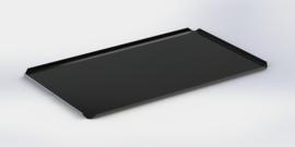 Noir plateau bords hauts 40 cm x 60 cm x 2 cm