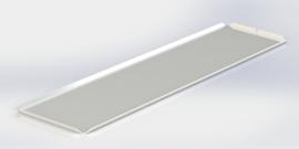 Blanc plateau 15 x 50 cm