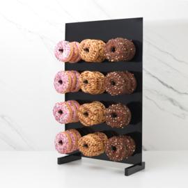 Zwart donut rek. 12 stuks , tot 36 stuks wanneer je er 3 achter elkaar aan hangt