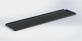 Noir plateau 15 cm x 60 cm