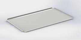 Blanc plateau bords hauts 40 cm x 60 cm x 2 cm