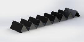 Zwarte stokbrood/ donut plateau 65 cm x 15 cm