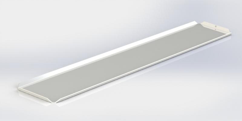 Witte plateau 10 x 50 cm
