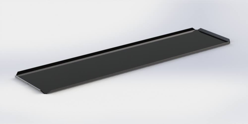 Zwarte plateau 15 x 40 cm