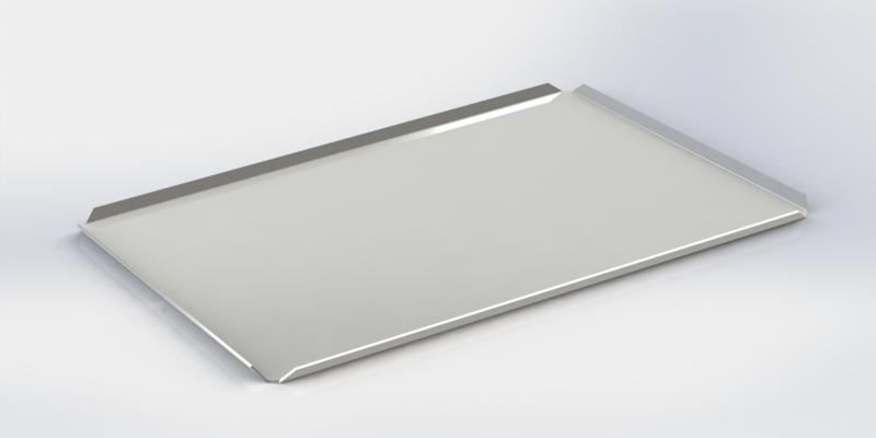 Witte plateau 30 cm x 40 cm