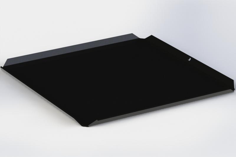 Zwarte plateau 16 cm x 16 cm ( ideaal voor pralines)