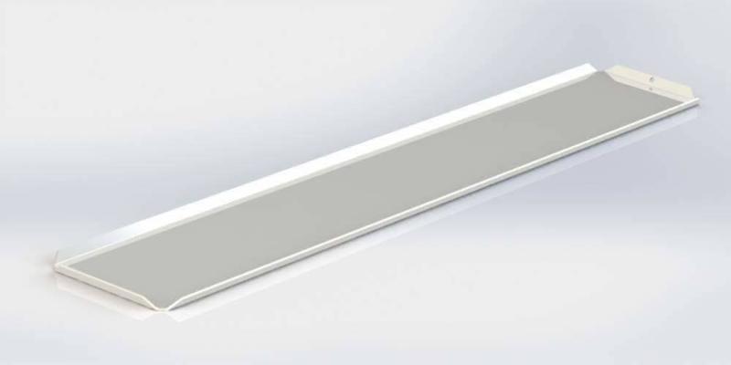 Witte plateau 10 x 40 cm