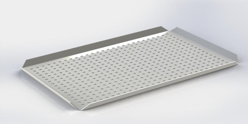 Weiße Platten hohe Kanten 40 x 60 x 2 cm PERFORIERT