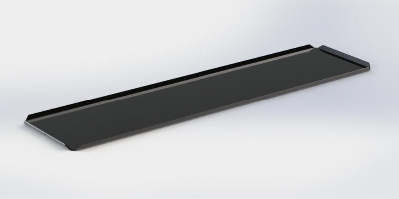 Zwarte plateau 15 x 50 cm