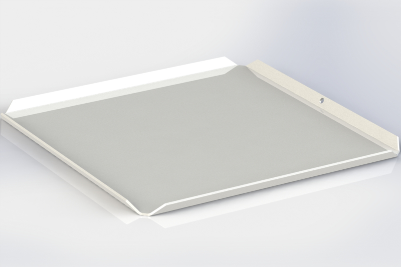 Witte plateau 17 cm x 17 cm ( ideaal voor pralines)