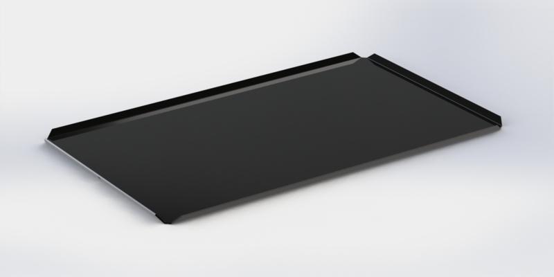 Zwarte plateau hoge boorden 40 cm x 60 cm x 2 cm