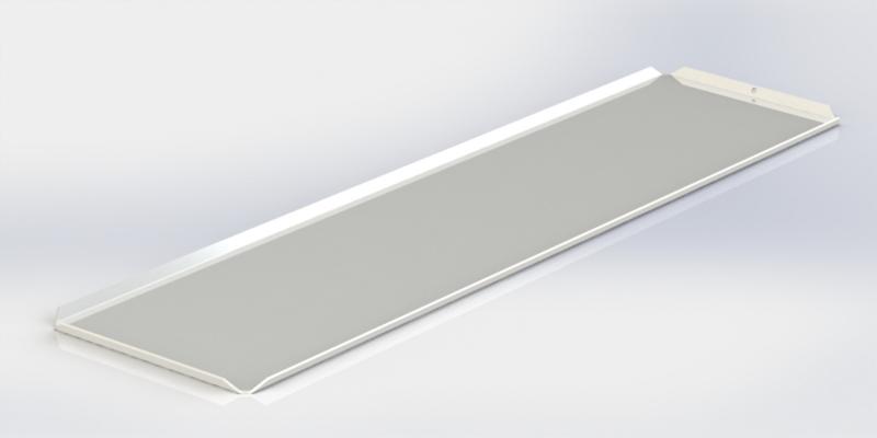 Witte plateau 15 x 50 cm