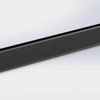 Zwarte plateau 20cm x 60 cm