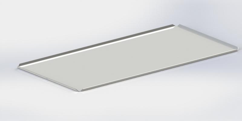 Witte plateau 30x20 cm