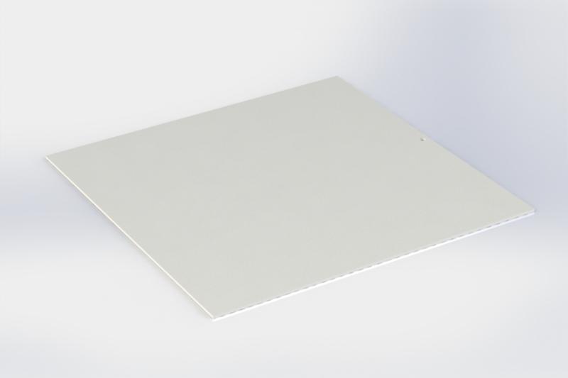 Witte tussenlegger zonder boorden 16 x16 cm