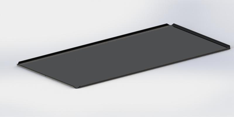 Zwarte plateau 40 cm x 60 cm