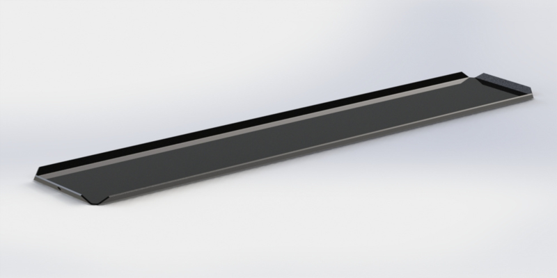 Zwarte plateau 10 x 50 cm