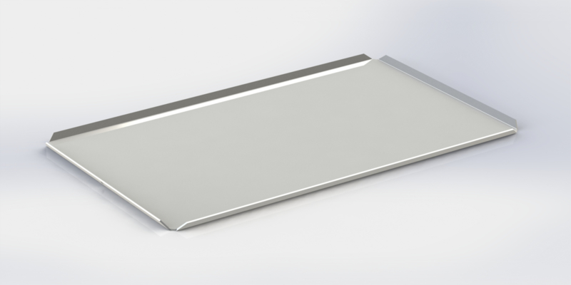 Witte plateau hoge boorden 40 cm x 60 cm x 2 cm