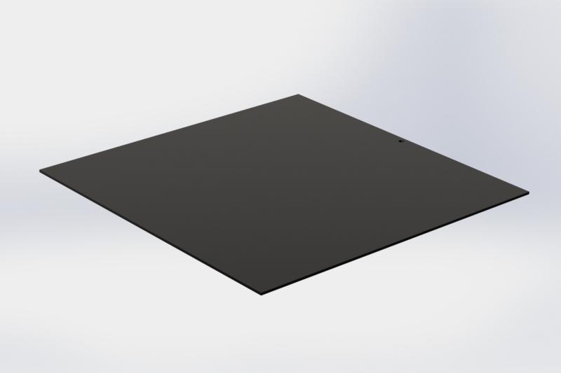 Zwarte tussenlegger zonder boorden 16 x16 cm voor pralineplateau 17 x 17 cm