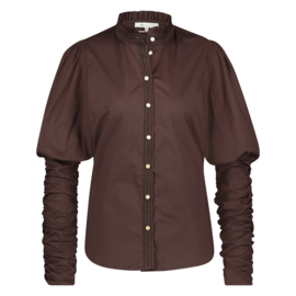 NUKUS BLOUSE 'LILLE, BROWN'