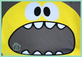 Cellofaan zakjes gele monster 10 cm x 10 cm (set van 10 stuks)