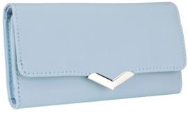Nicole Brown Portemonnee blauw, ecoleder PS171